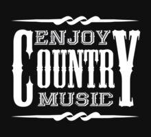 Enjoy Country Music (white) Baby Tee