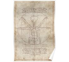 Da Vinci's Real Screw Invention Poster
