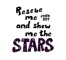 Rescue me chin boy Photographic Print