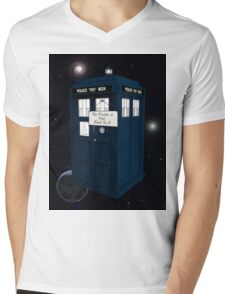The Doctor is Out Back in 5 Mens V-Neck T-Shirt