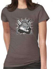 STUCK - Grey Fox / Fuchs (dark backgrounds) Womens Fitted T-Shirt