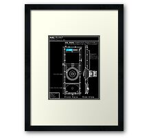2001 A Space Odyssey HAL 9000 blueprint Framed Print