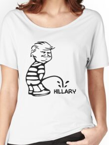 Funny Trump vs Hillary Women's Relaxed Fit T-Shirt