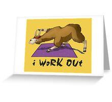 Workout Llama Greeting Card