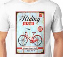 BICYCLE RIDING; Vintage Advertising Print Unisex T-Shirt