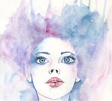 Angelic Watercolour Girl by julietstafford