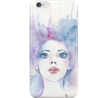 Angelic Watercolour Girl iPhone Case/Skin