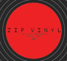 Zip Vinyl Record Logo Sticker
