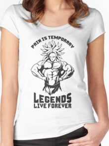 Pain Is Temporary, Legends Live Forever (Broly) Women's Fitted Scoop T-Shirt