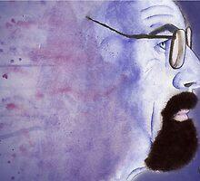 Walter White/Heisenberg Watercolour Drip Painting by julietstafford