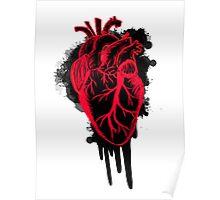 Anatomical heart splatter  Poster