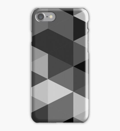 Grey scale triangle pattern iPhone Case/Skin