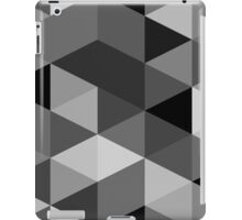 Grey scale triangle pattern iPad Case/Skin