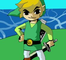 Wind Waker Link LandScape Sticker