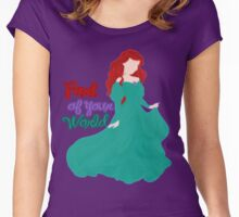 Princess Part of your World Women's Fitted Scoop T-Shirt