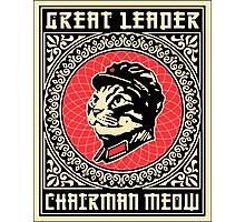 Great chairman leader MEOW Photographic Print
