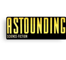 Astounding Science Fiction vintage Canvas Print