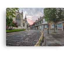York Minster College Street Metal Print