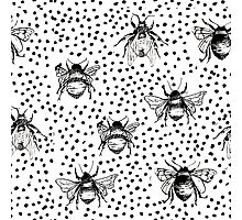 Inky Bees Photographic Print
