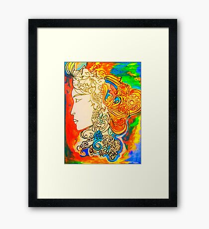 Etched in Lace Framed Print