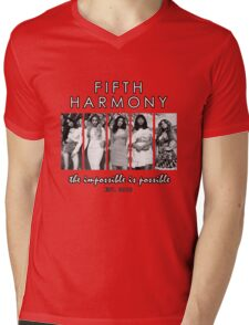 FIFTH HARMONY THE IMPOSSIBLE IS POSSIBLE Mens V-Neck T-Shirt