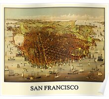 Vintage Historic San Francisco Map Poster