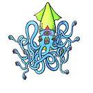 Trippy Squid by CackalackBat