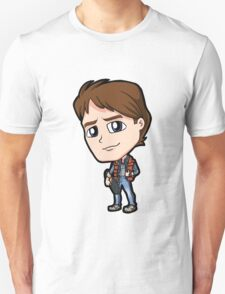 BTTF - Back to the Future Marty McFly 1985 Michael J Fox Chibi T-Shirt