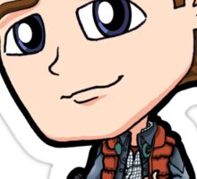 BTTF - Back to the Future Marty McFly 1985 Michael J Fox Chibi Sticker