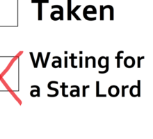 Waiting for a Star Lord Sticker