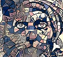 """Abstract Portrait """"Cat Man"""" by Anthony Ross"""