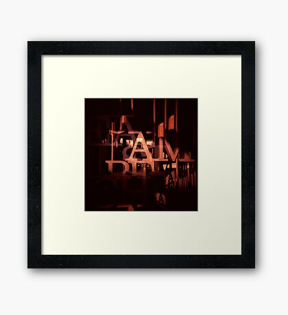 TYPE GRAPHIC Framed Print
