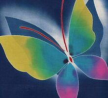 japanese fabric 2 - scanogram by Janine Paris