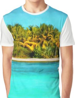 Boat on the tropical coast Graphic T-Shirt