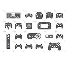 Evolution of Game Controllers Photographic Print