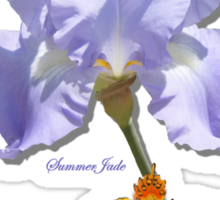 Chambray Elegance ~ This Iris Sticker