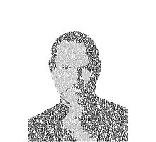 Steve Jobs Typographic Image - Stanford Commencement Speech 2005 Photographic Print