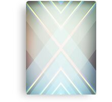 Art Deco Abstract Geometric Overlapping Triangles Blue Gray Canvas Print