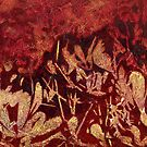 """Banksia Shadows 4"" pillow by Karyn Fendley"