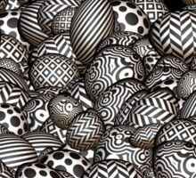 Black and white  abstract pattern  Sticker