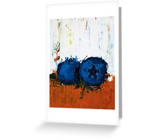 Blueberries on Ice Greeting Card