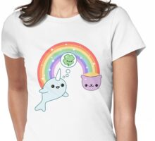 Lucky Narwhal Womens Fitted T-Shirt