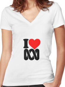 Love the ABC Women's Fitted V-Neck T-Shirt