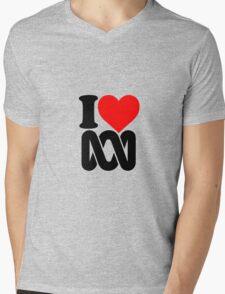 Love the ABC Mens V-Neck T-Shirt