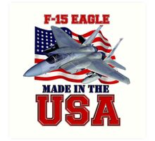 F-15 Eagle Made in the USA Art Print