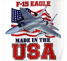 F-15 Eagle Made in the USA Poster