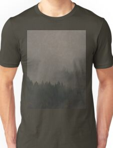 Autumn Moods aged Misty Forest nature photo Unisex T-Shirt