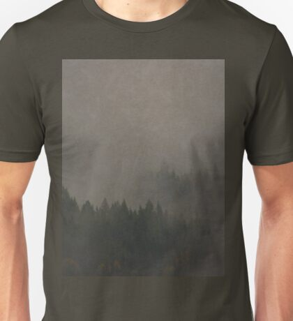 Autumn Moods aged Misty Forest nature photo Unisex T-Shirt