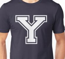 College letter Y in white Unisex T-Shirt