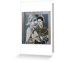 Mashup in Blue Greeting Card
